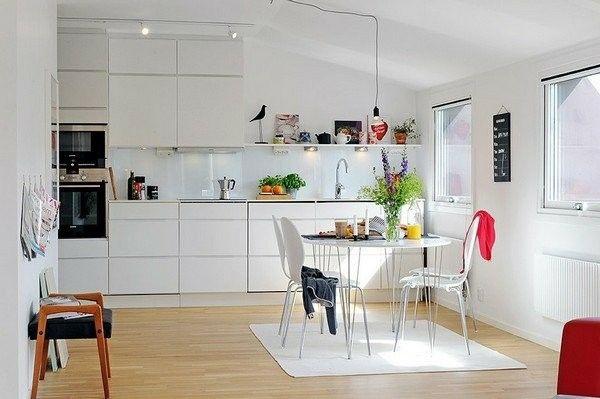 kleine skandinavische Küche-einrichten kitchen Pinterest - skandinavisches kuchen design sorgt fur gemutlichkeit