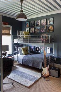 Appealing gray tween boys bedroom design inspiration with