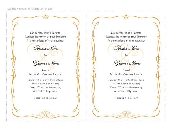 Wedding Invitations Templates, Word Templates, Free Office - invitation templates microsoft word