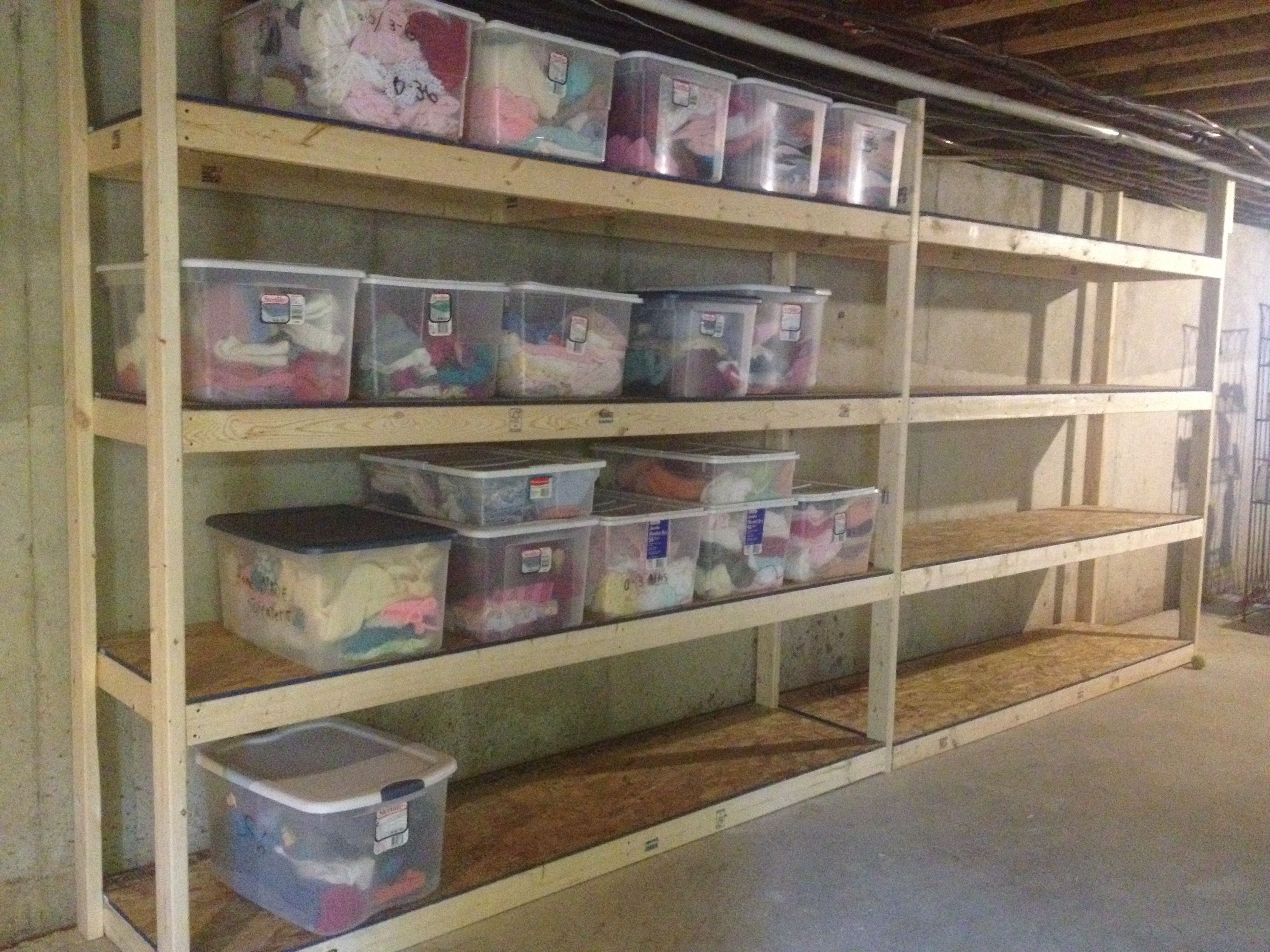 Build Garage Wall Shelves Basement Storage Shelves 225 In Material And A Saturday