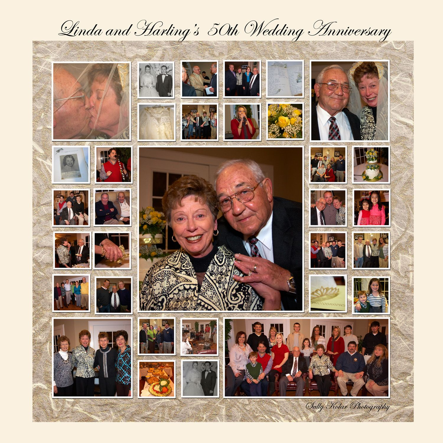 Collage Frames Australia 50th Anniversary Party Ideas On A Budget Linda And