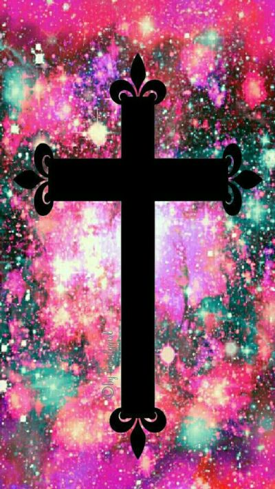 Holiday cross galaxy iPhone/Android wallpaper I created for the app CocoPPa! | Iphone wallpapers ...