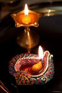 Hindu Diwali Festival Prayer Lamp | candle lights ...