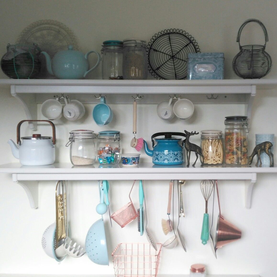 Ikea Küchen Stenstorp My Ikea Stenstorp Kitchen Shelves With Pretty Copper Duck