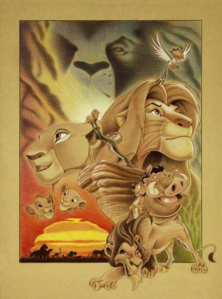the lion king movie poster artwork back