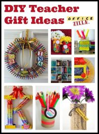 Click for 9 DIY teacher gift ideas using office supplies ...