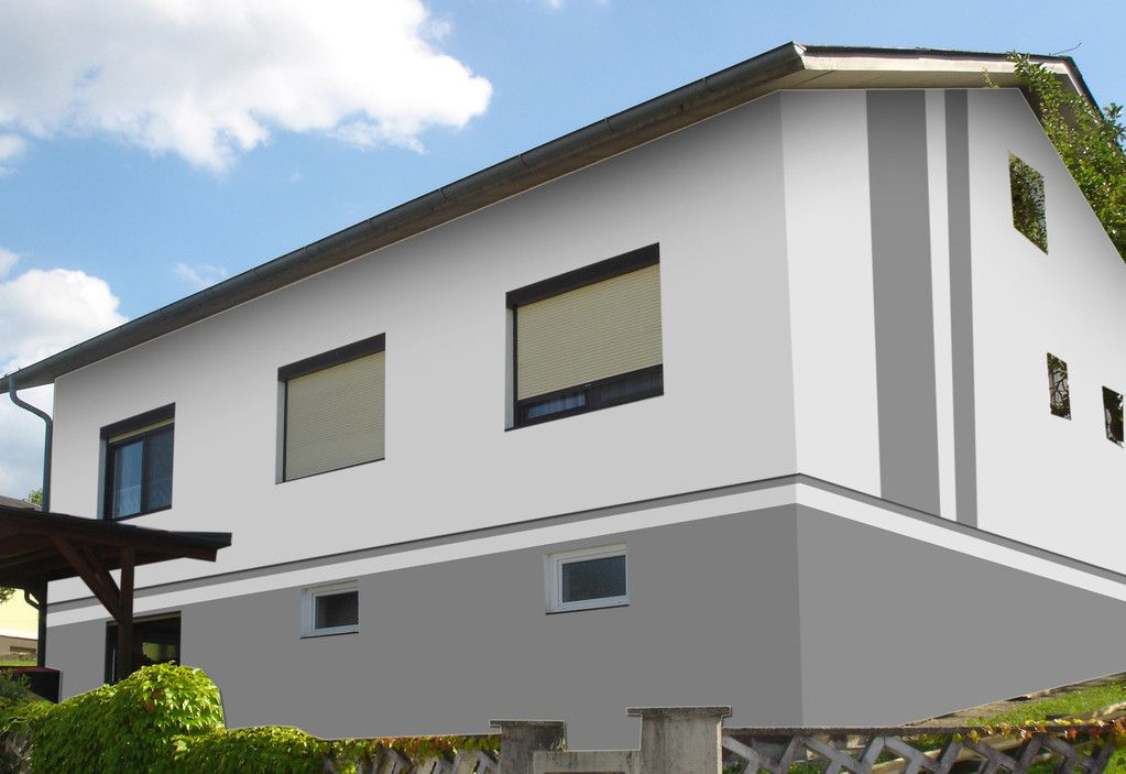 Fassadengestaltung, Farbgestaltung, Architekturfarbe - fassadenfarbe beispiele