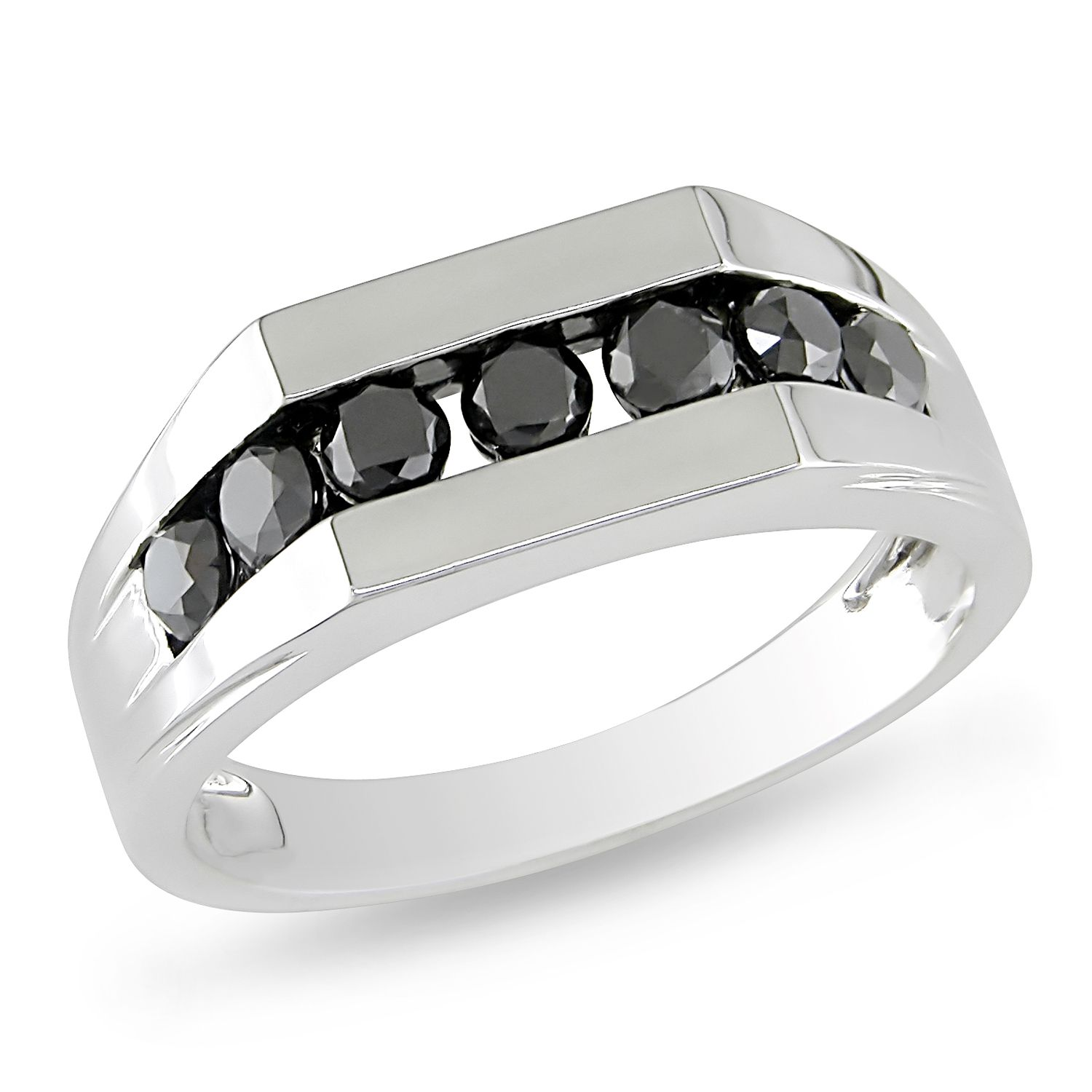 cheap diamond wedding rings T W White Gold Black Diamond Ring Mens White Gold 10 Amour Collection