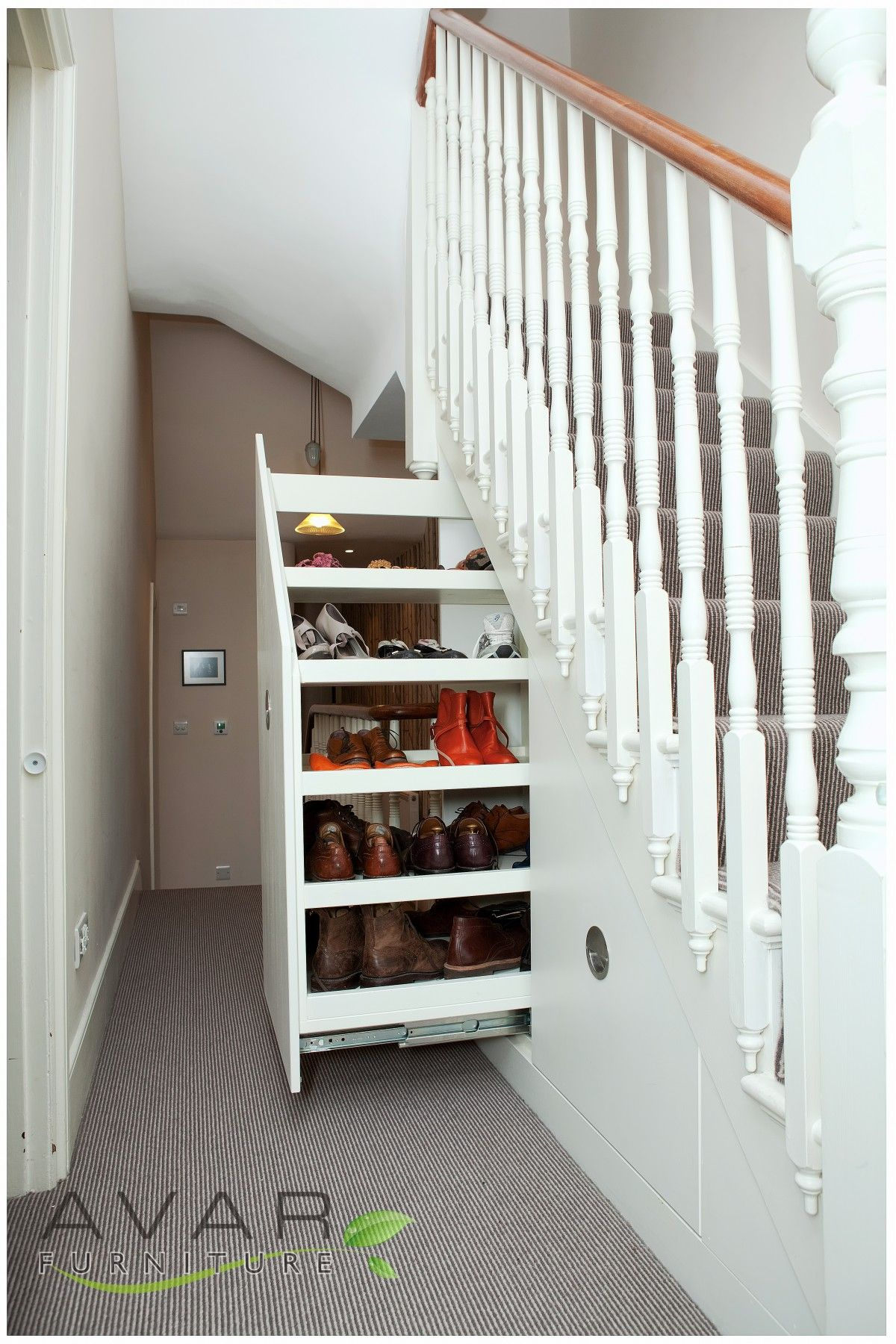 Appealing Decoration Under Stairs Storage Ideas With Hand