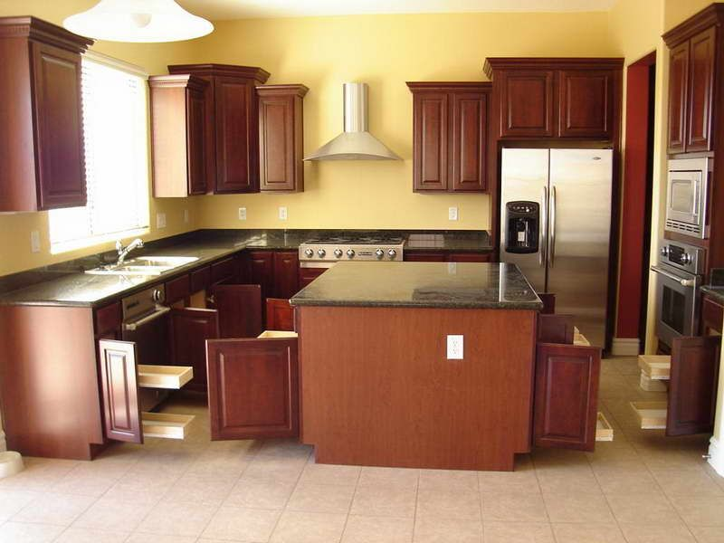Yellow Kitchen With Dark Brown Cabinets Yellow Kitchen Walls With Dark Cabinets - Google Search