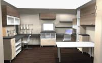 ikea home office overview with wall cabinet | IKEA Home ...