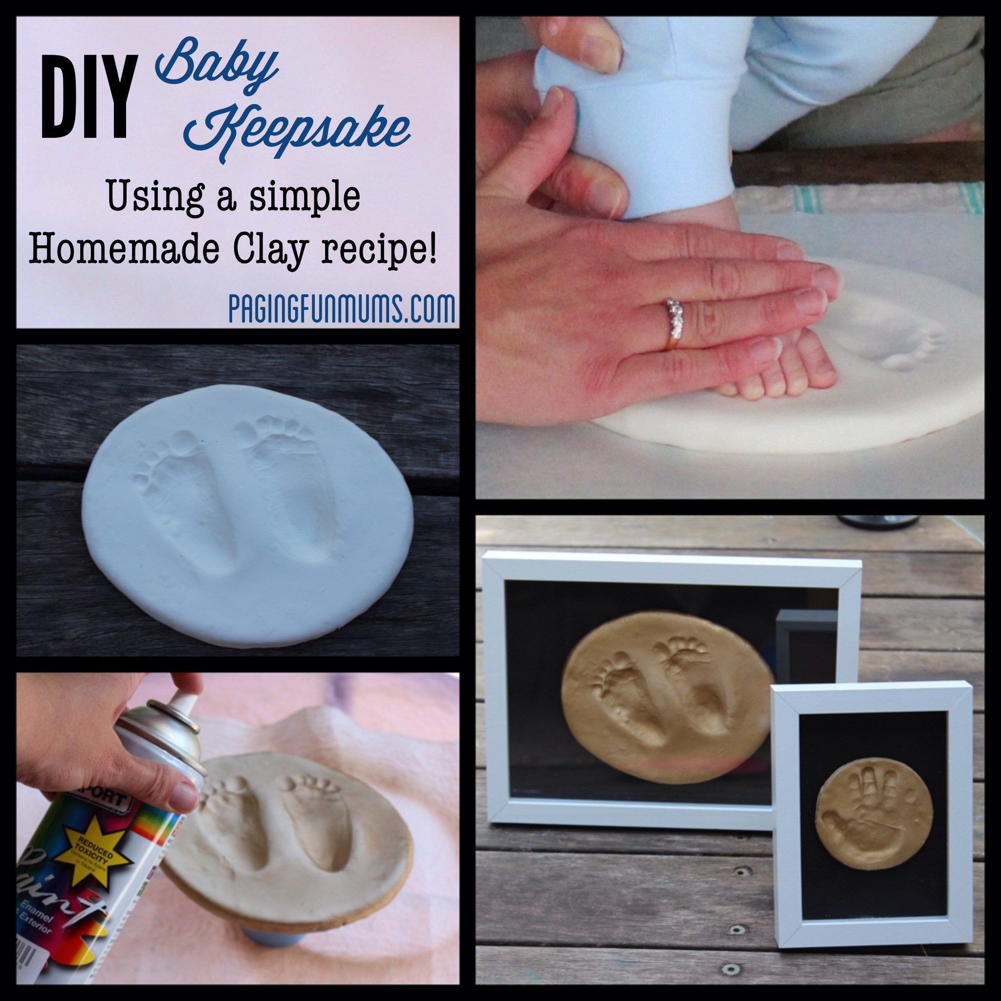 Diy Mothers Day Gifts From Baby Diy Baby Keepsake Using Homemade Clay Homemade Clay