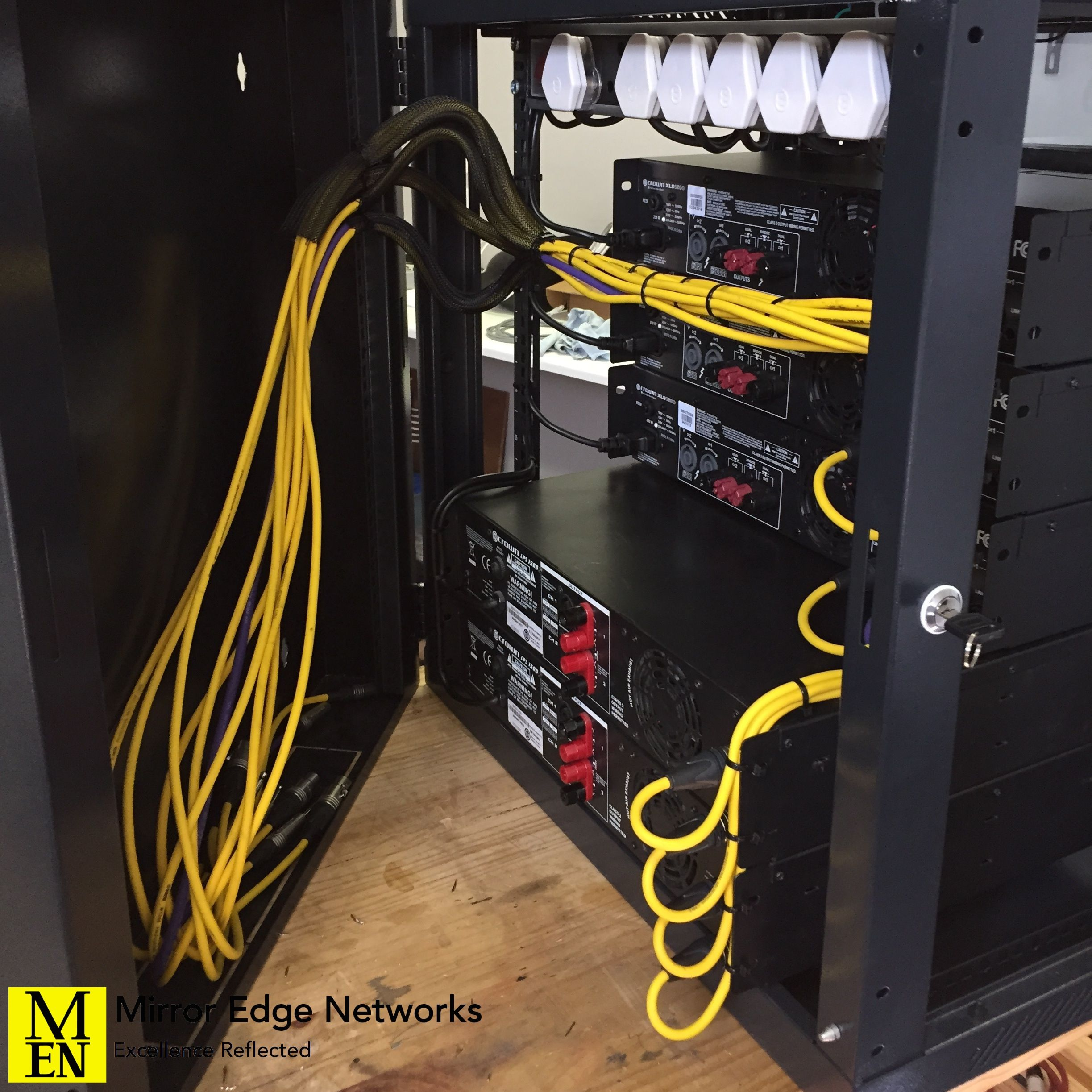 Audio Rack Wiring Auto Electrical Diagram Navistar Cat Ct13 Engine Restaurant System Amplifier Cabling