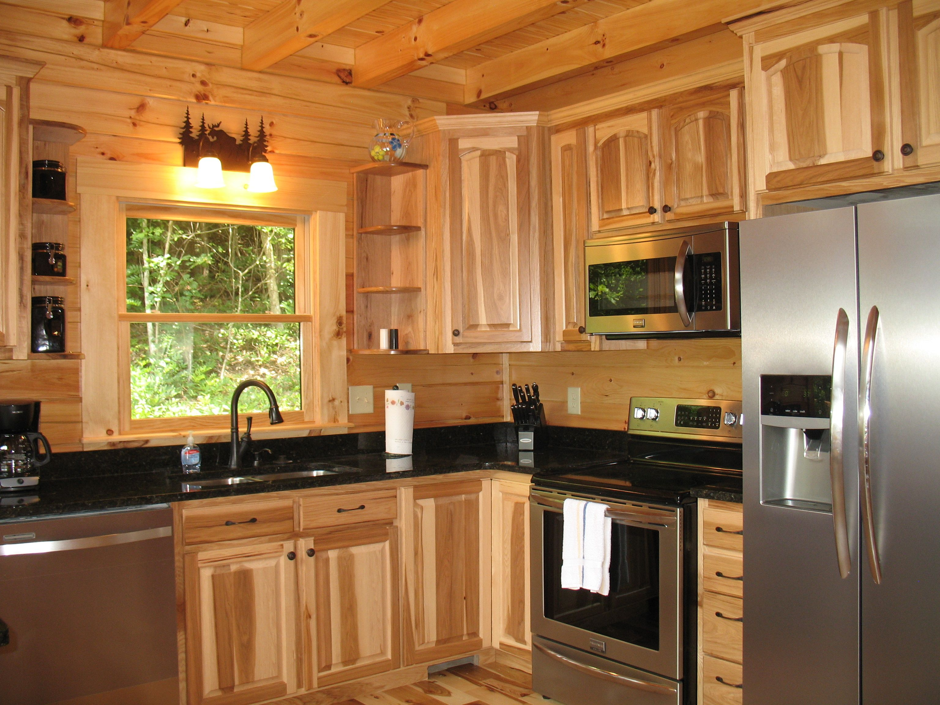 Denver Hickory Kitchen Cabinets Hickory Cabinets With Granite Countertops Hickory