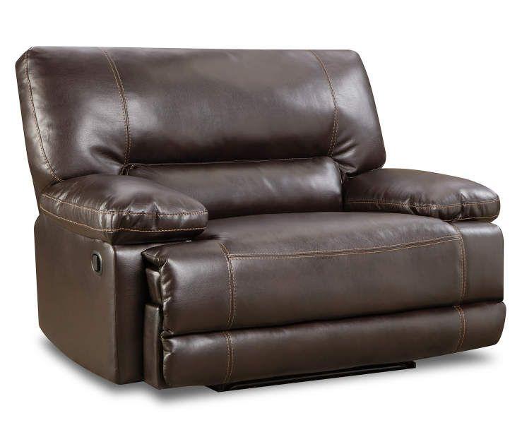 Roman Chocolate Snuggle Up Recliner at Big Lots furniture - big lots living room furniture