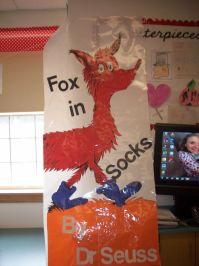 Dr Seuss Fox in Socks Door decoration   March lesson plans ...