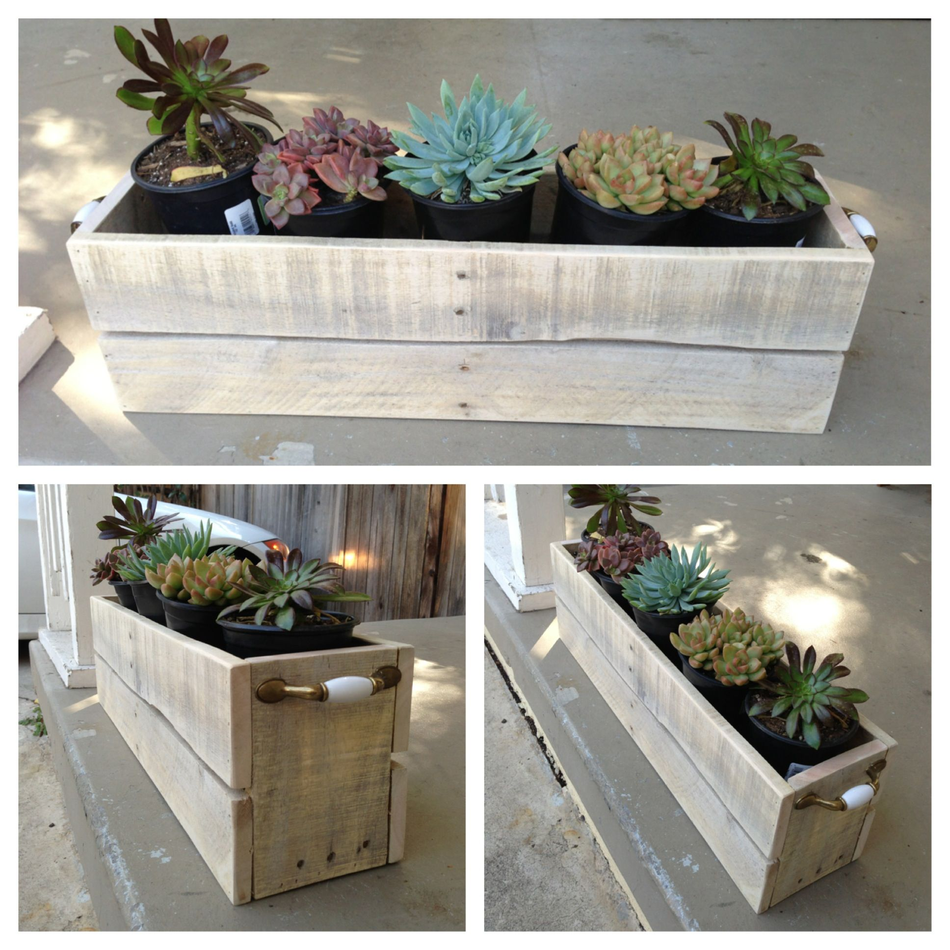Diy Planter Box From Pallets Planter 39s Box Made From Pallet Wood Made By Yours Truly