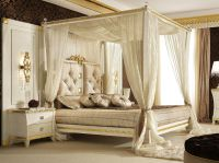 Picture of Superb Canopy Frame Modern Bed Curtains ...