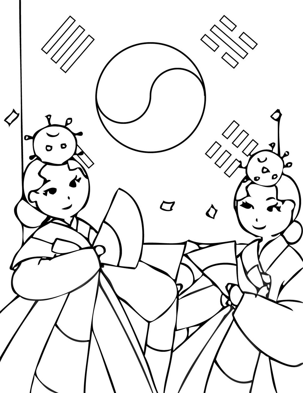Korea coloring page the cutest blog