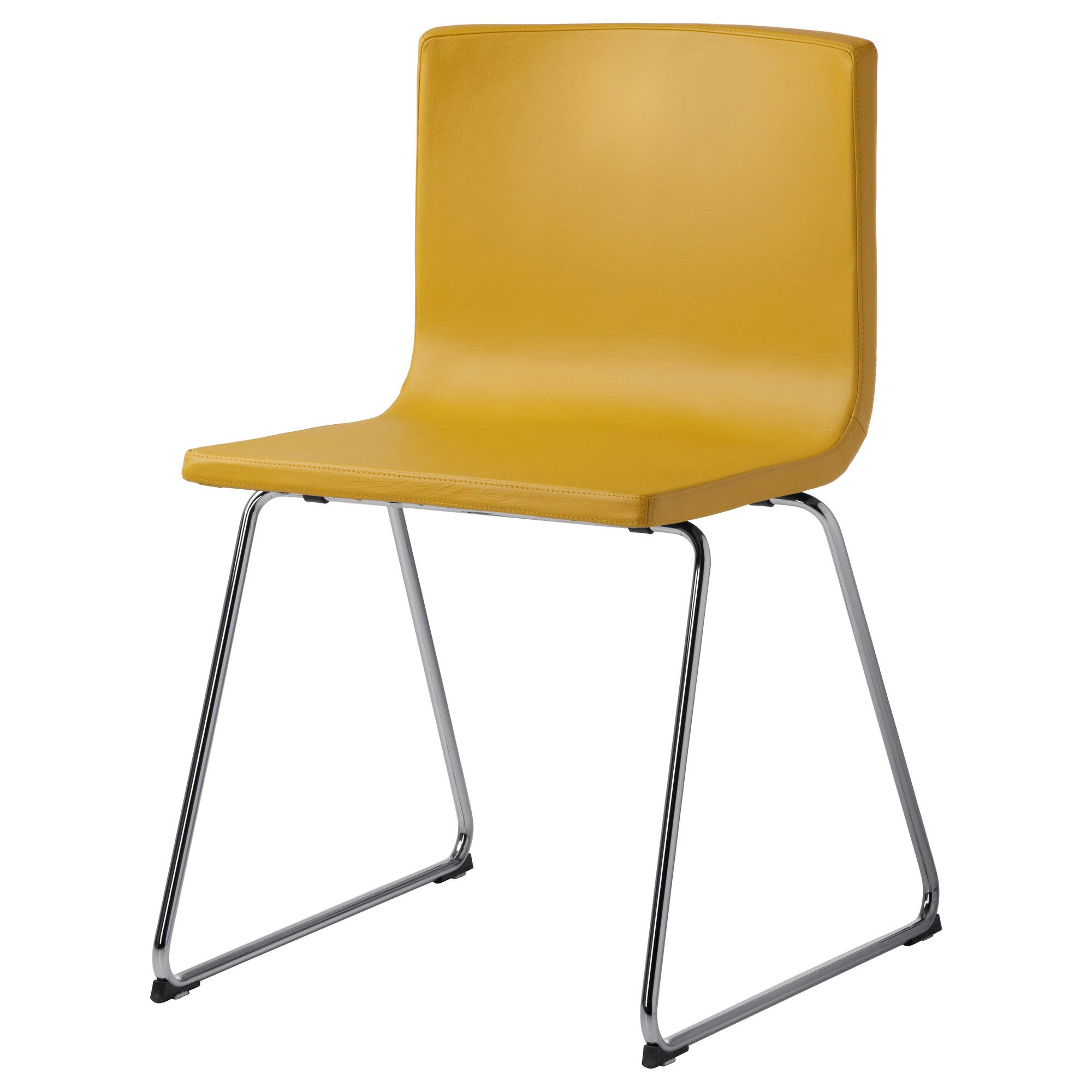 kitchen chairs ikea BERNHARD Chair in Dark Yellow if you want to add some color to the kitchen
