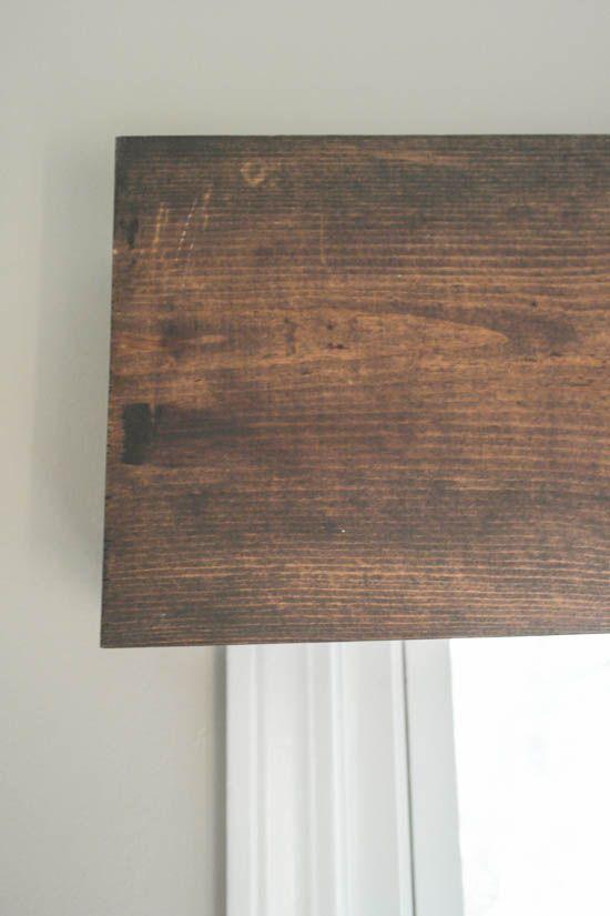 DIY Wood Valance