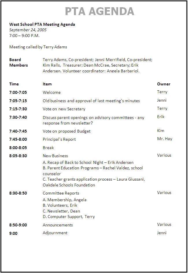 Simple Agenda Samples Sample Meeting Agenda Template Business - event agenda sample