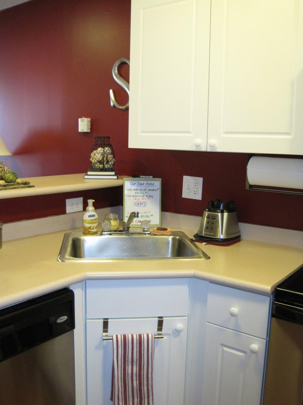 kitchen sink cabinet MODERN SMALL CORNER KITCHEN SINK DESIGN Interior Images