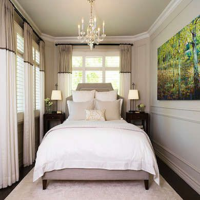 Living Large 10 Tiny Bedrooms with Big Style Love the drapes - tiny bedroom ideas