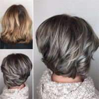 Makeover: Gray Blending + Asymmetrical Bob - Hair Color ...