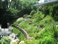 Garden landscaping ideas for downward sloping backyard ...