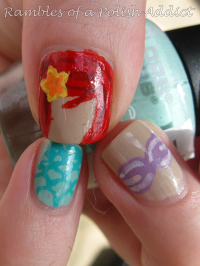 disney nail art challenge day 17: Ariel | Nails by me ...