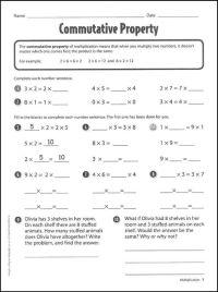 Commutative Property of Multiplication Worksheets ...