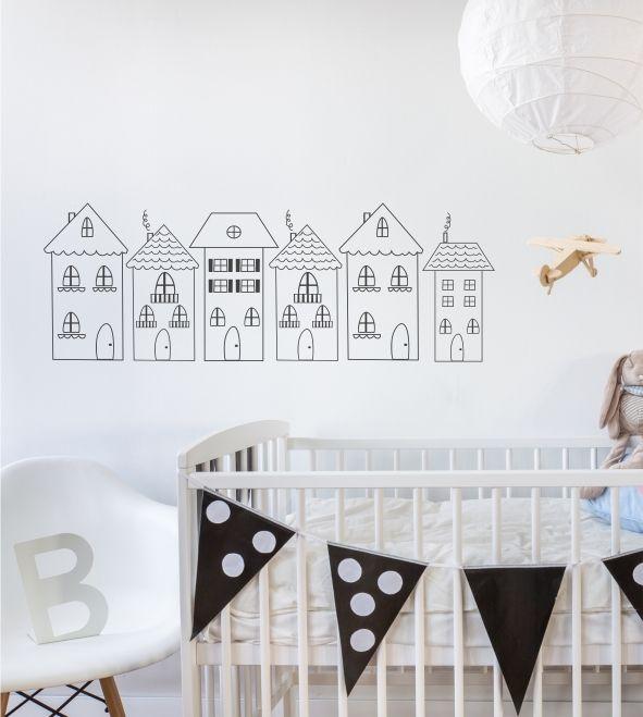 Little Village, kleine Stadt, Dorf, Häuser, Häuschen Kinderzimmer - wandsticker babyzimmer nice ideas