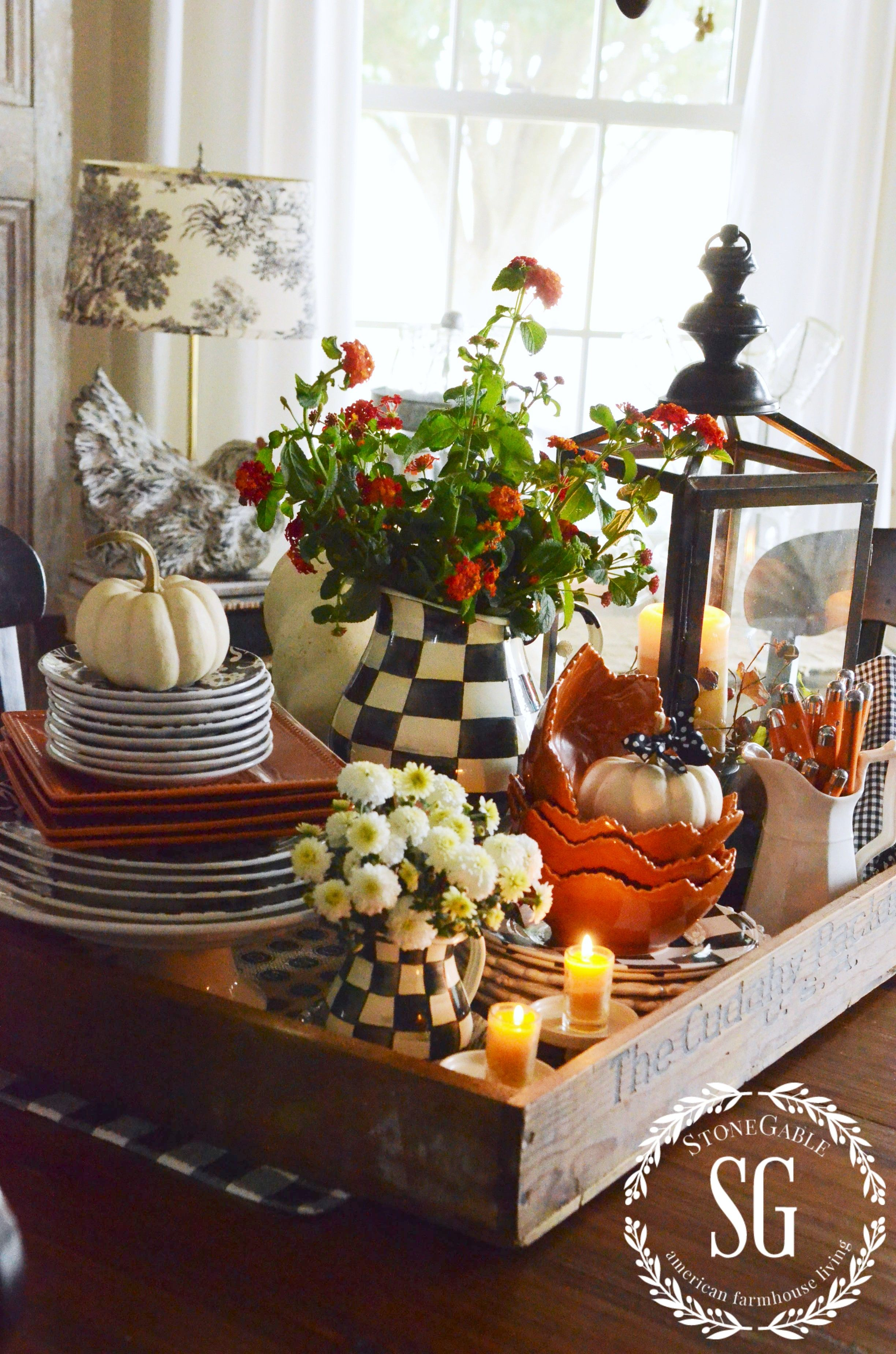 Table Decor And More Fall Kitchen Table Centerpiece Vignettes Fall Decor And