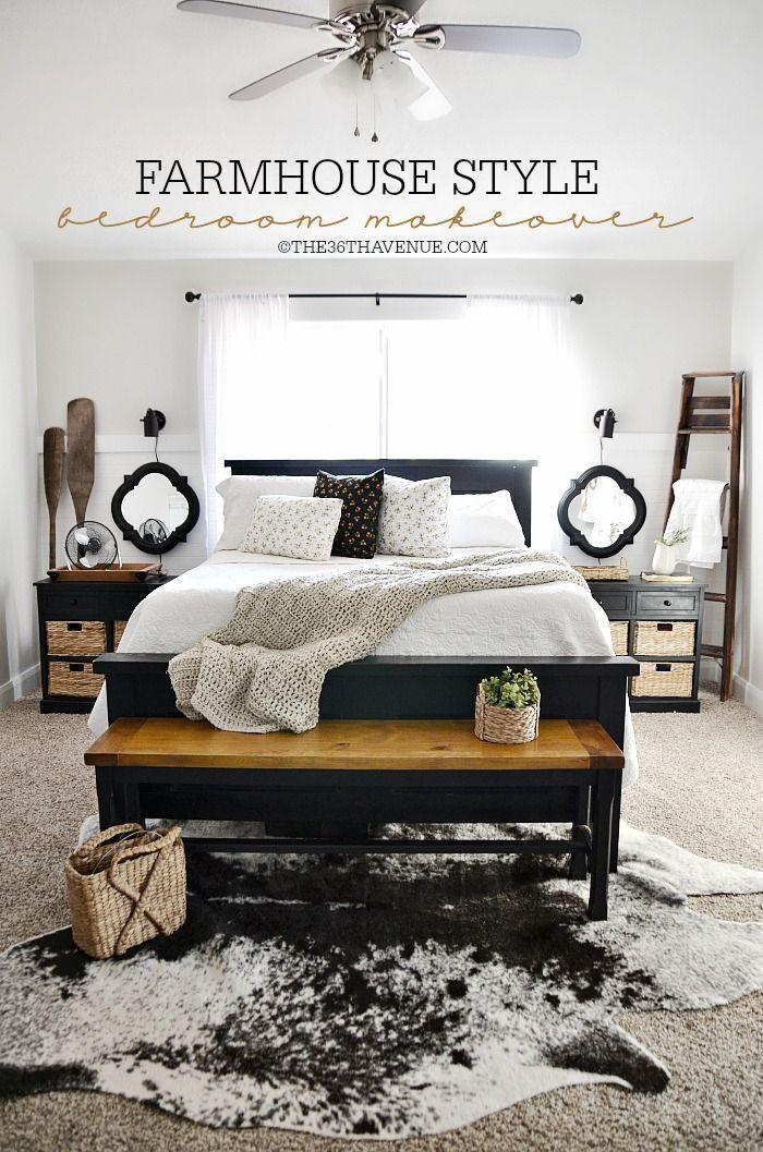 Home Decor - Bedroom Makeover Diy bedroom, Bedrooms and Master - farmhouse bedroom ideas