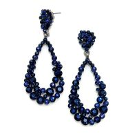 Sapphire Navy Blue Long Earrings   Navy and Royal Blue ...