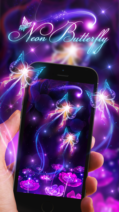 Neon butterfly live wallpaper! | Android live wallpapers from Ahatheme | Pinterest | Butterfly ...