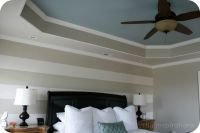 Coffered Ceiling Ideas | Painted Tray Ceiling In Master ...