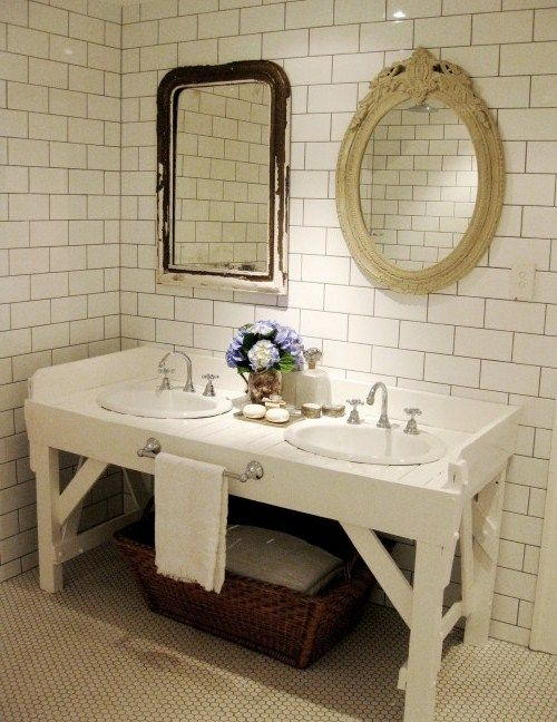 Vintage Table For Bathroom Vanities Idea Home Decor Pinterest - vintage bathroom ideas