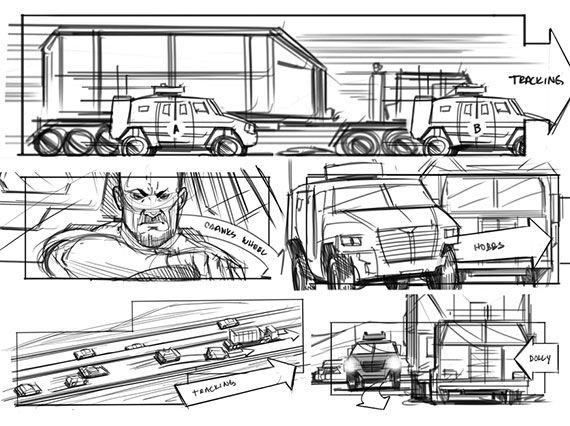 Mad max story board storyboarding and visual development - visual storyboards