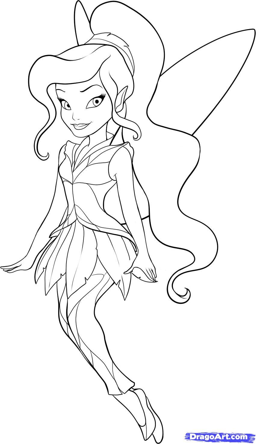 Water fairy coloring pages