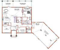 attached angled to the right garage house plans