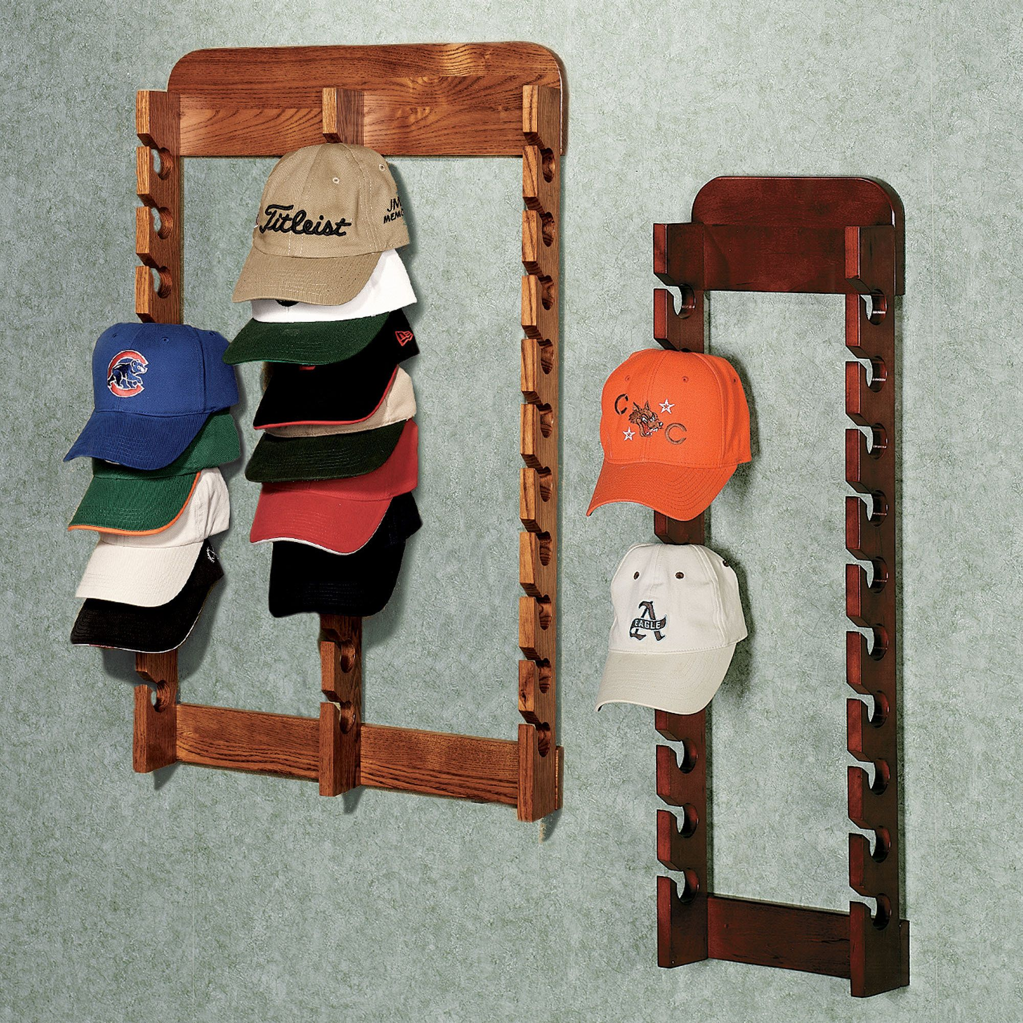 Hat Holders For Walls Hat Cap Wall Rack To Organize All Of The Hats All Over The