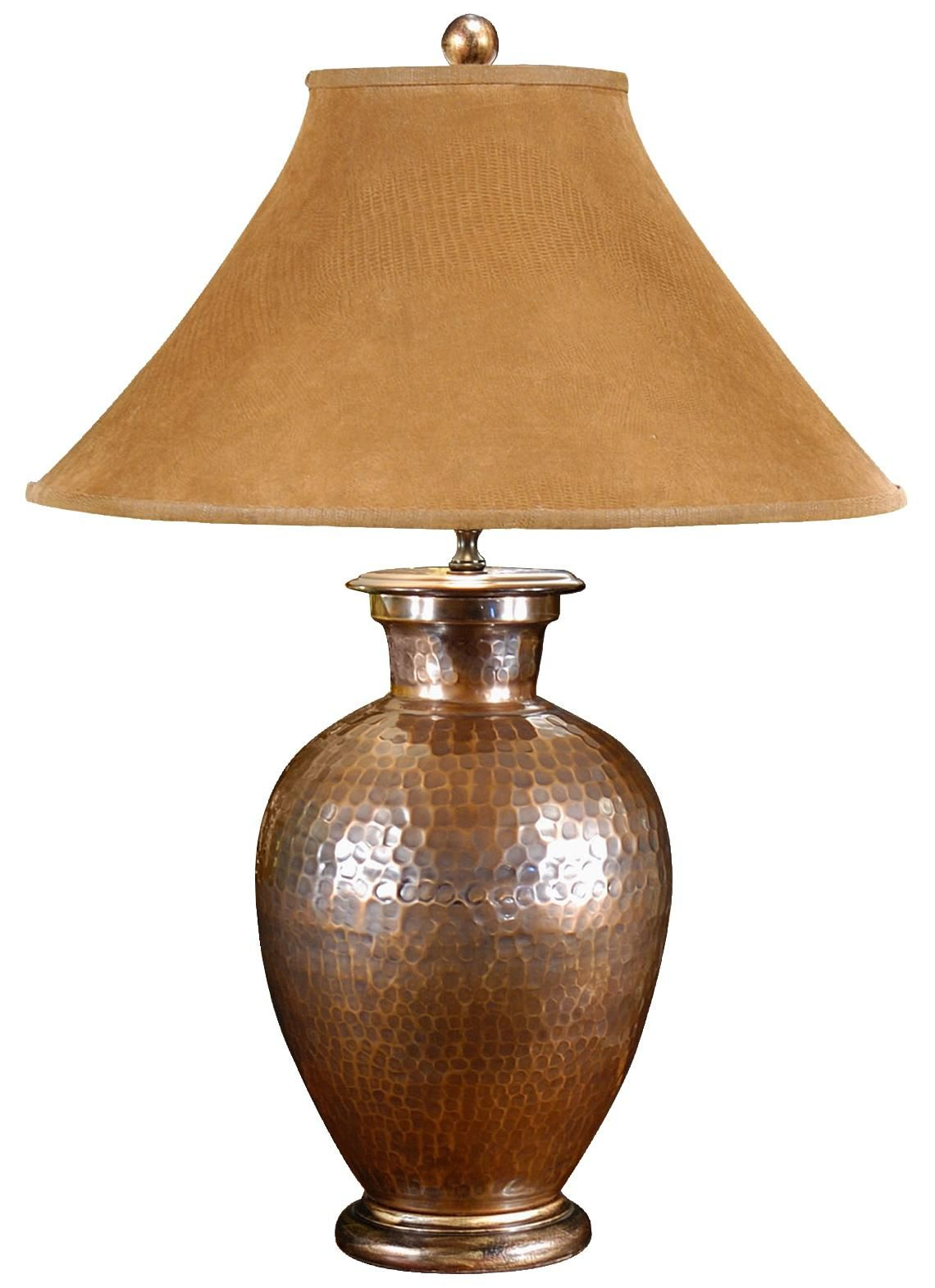 Pot Table Lamps Wildwood Antique Copper Hand Hammered Pot Buffet Table