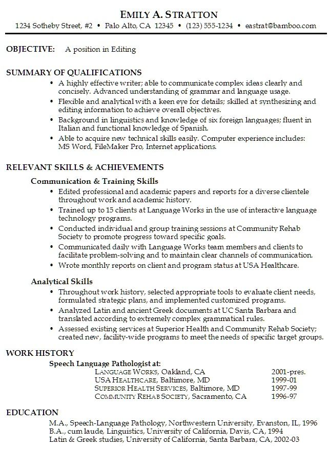 Job Resume Objective Examples #526 - http\/\/topresumeinfo\/2014\/11 - functional resume example