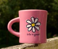 Life is Good Coffee Mug Pink Daisy Flower Love Do What You ...