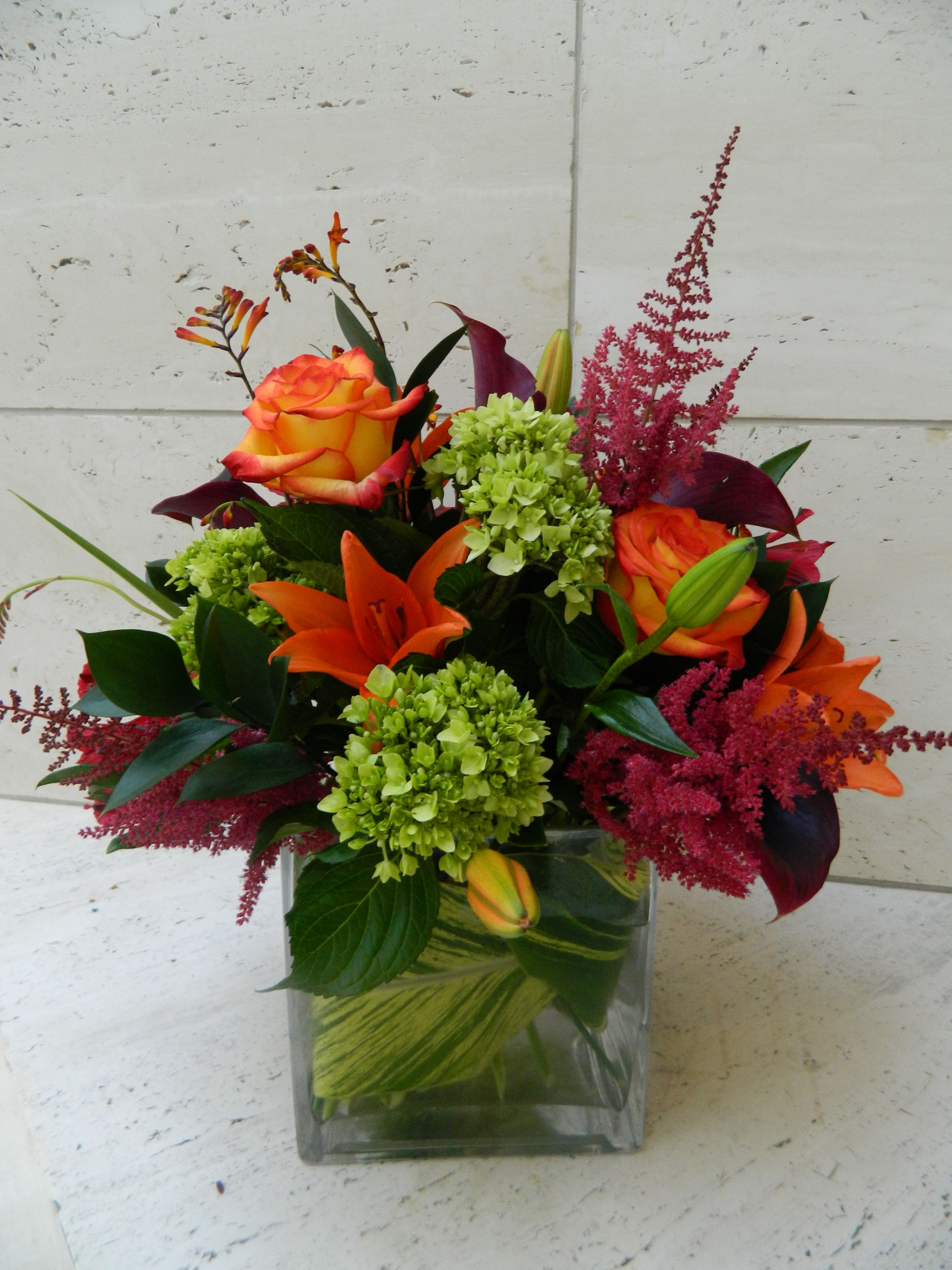 Fall Silk Floral Arrangements Astilbe Lily Hydrangea Love Love Fall By Plants And