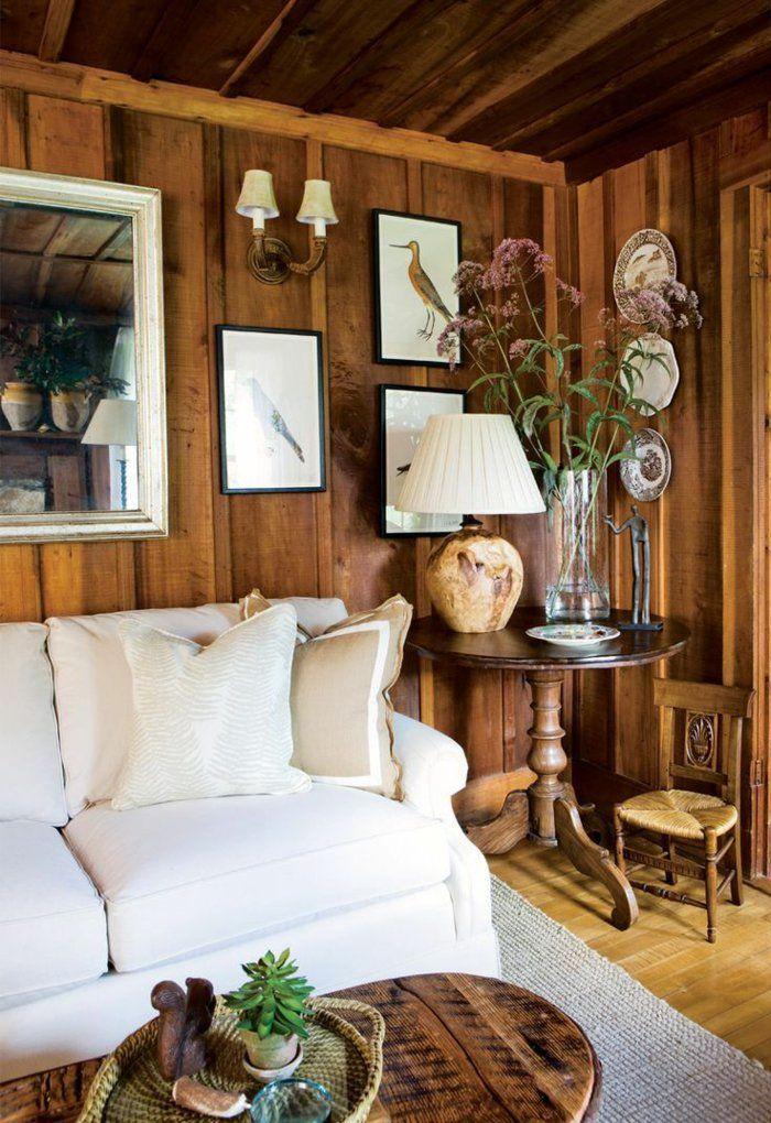 holz wandpaneele wohnzimmer wandgestaltung weies sofa wohnzimmer landhausstil holz wandgestaltung wohnzimmer landhausstil - Wandgestaltung Wohnzimmer Landhausstil