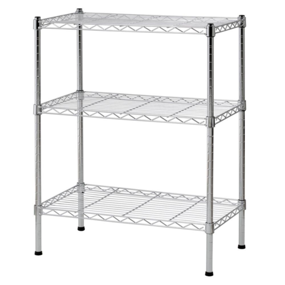 Steel Shelf For Kitchen Black Chrome Storage Rack 4 Tier Organizer Kitchen Shelving Steel Wire