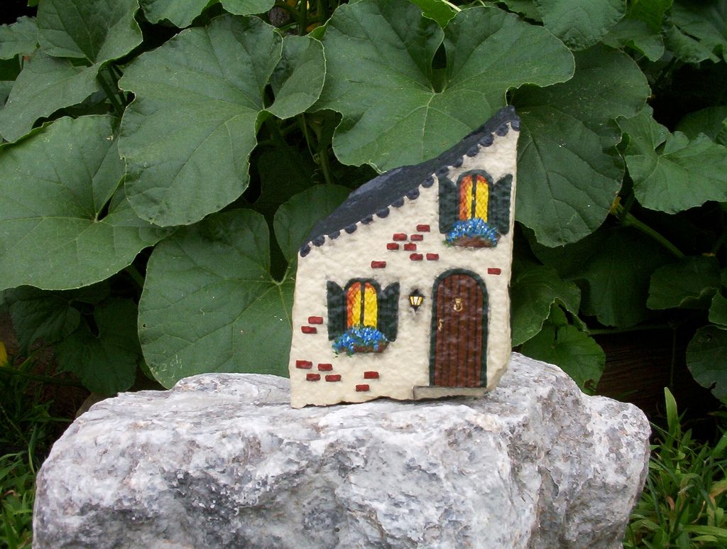 Hand painted rock french town house flickr photo sharing